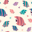 Seamless pattern with butterfly fish. - 181633068
