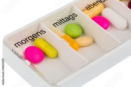 Foto op Plexiglas Apotheek tablet dispensers and tablets
