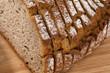 bread slices of dark bread - 181635237