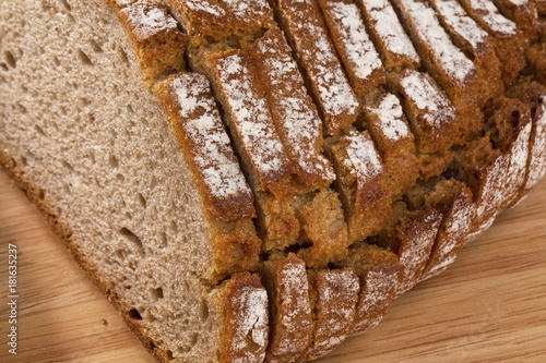 Foto op Aluminium Eiland bread slices of dark bread
