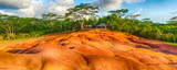 Seven colour earth. Beautiful landscape. Mauritius. Panorama