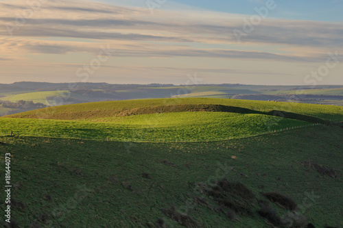 Plexiglas Donkergrijs Sussex Rolling Landscape