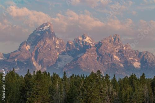 Staande foto Ochtendgloren Teton Sunrise Landscape