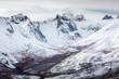 Towering mountain peaks of Tombstone Territorial Park in the Yukon