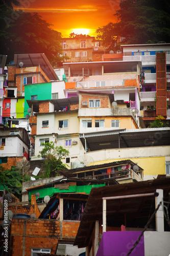 Foto op Canvas Rio de Janeiro Rio de Janeiro downtown and favela