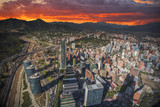 Panoramic view of Santiago de Chile - 181678835