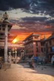 Street of the city of Kadmandu. Nepal. Himalayas - 181679069