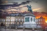 Royal Amalienborg Palace in Copenhagen - 181679218
