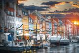 Nyhavn is the old harbor of Copenhagen - 181679226