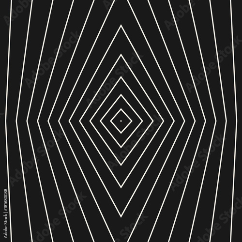 Vector geometric seamless pattern with thin refracted lines, linear rhombuses - 181680088