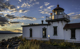Sunset over Seattle's West Point Lighthouse - 181695029