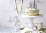 Christmas festive carrot cake with mascarpone filling. - 181701473
