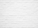 White brick wall texture and background. - 181706038