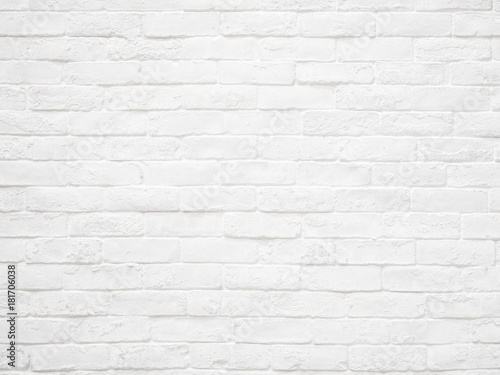 Fototapeta White brick wall texture and background.