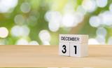 31 December wooden c...