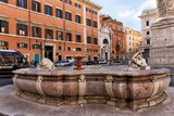 Fountain in the street of Rome. Italy - 181724024