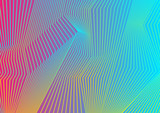 Fototapety Colorful curved lines pattern design