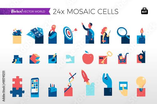 Abstrakcyjne pojęcia mozaiki cyfrowej