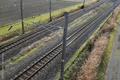 Fotobehang Spoorlijn 羽越本線の線路