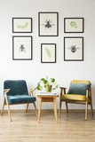 Vintage room with posters - 181749899