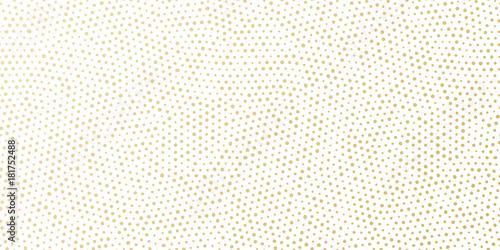 Bożenarodzeniowy wakacyjny złoty tło szablon dla kartka z pozdrowieniami lub nowego roku prezenta opakunkowego papieru projekta. Wektorowy złoto kropkujący wzór dla Bożenarodzeniowego opakunku confetti bielu bezszwowego złotego tła