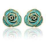 fashion women's earrings in gold.