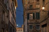 Beautiful night view of a italian street in siena