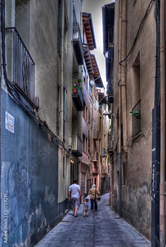 Staande foto Smal steegje Rue à La Seu de Urgell, Catalogne, Espagne