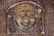 Sculpture sur l'un des vantaux de l'église Saint-Maclou. Rouen ( Renaissance XVI èem S)
