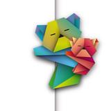 misie koala origami wektor
