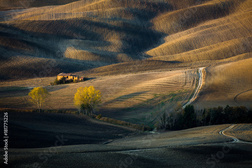 Staande foto Toscane Lonely house