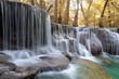 Huay Mae Kamin Waterfall, beautiful waterfall in autumn forest, Kanchanaburi province, Thailand - 181778297