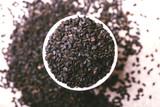 Black sesame seeds. Copy space. Top view. - 181779295