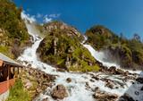 Summer Latefossen Waterfall Odda Norway