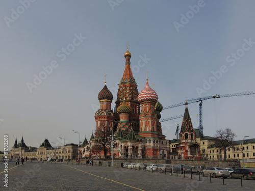 Staande foto Moskou Москва. Кремль и Красная площадь