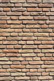 braune Ziegelsteinmauer, Ziegelsteinee