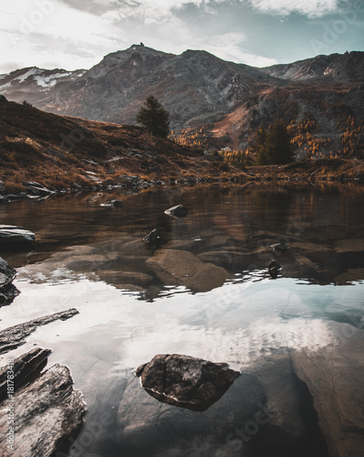 Foto op Plexiglas Grijze traf. Lake Reflection