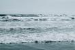 Big surf ocean waves. Blue sea water background