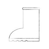 rubber boot rain seasonal icon style on white background vector illustration - 181792280