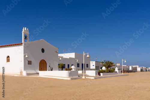 church of Caleta del Sebo on isla Graciosa, Canary islands, Spain