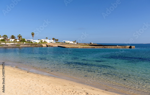 Staande foto Beige Pedro Barba beach in La Graciosa island, Canary islands, Spain