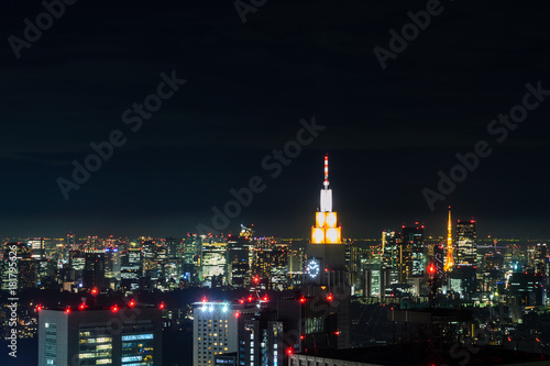 Foto op Aluminium Tokio Tokyo, Japan cityscape night view from metropolitan government office