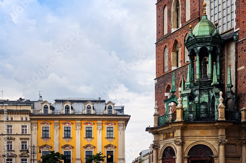 Papiers peints Cracovie antique building view in Krakow, Poland