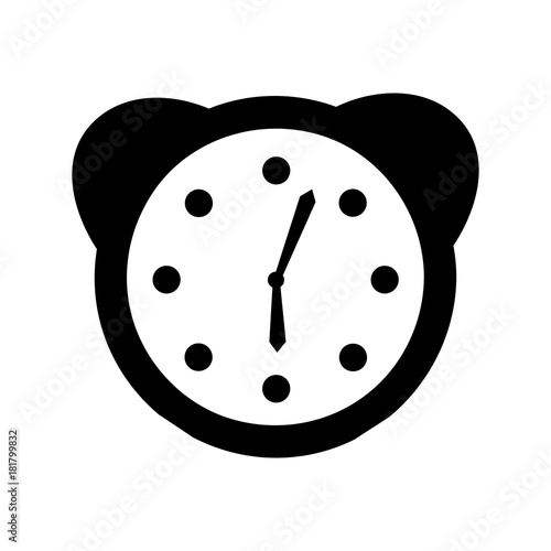 Poster watch alarm clock icon vector illustration design