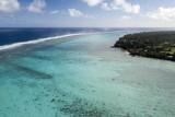 Muri beach Cook Island polynesia tropical paradise aerial view - 181804044