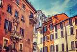 Quaint facades in Rome - 181805460