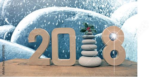 Staande foto Zen felicitación zen año nuevo 2018 navidad U84A5495-f17