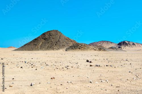 Fotobehang Blauw Landscape of the Arabian desert