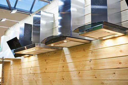 Kitchen hoods in furniture store Plakát
