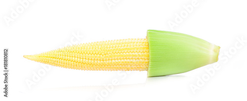Foto op Canvas Verse groenten baby corn isolated on white background